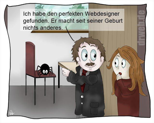 Cartoon: der perfekte Webdesigner