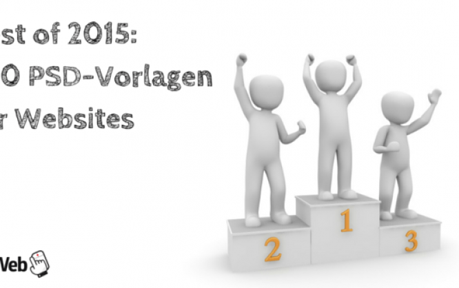 Best of 2015: 100 PSD-Vorlagen für Websites
